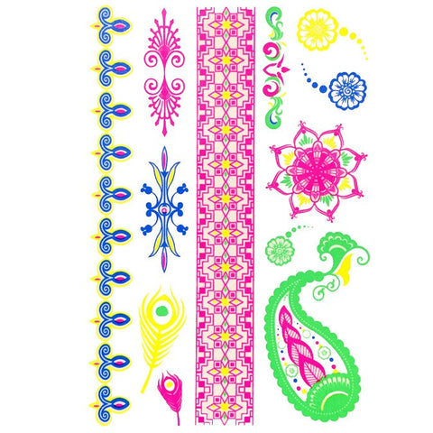 Day-Glo Temporary Tattoos - Design 76