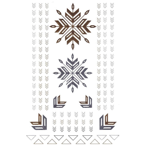 Temporary Tattoo - Silver And Gold Metallic Jewellery Tattoo - Design 83