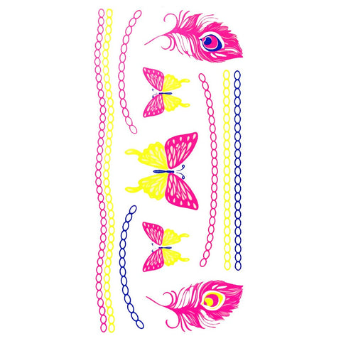 Day-Glo Temporary Tattoos - Design 79