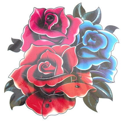 Rose Flowers Large Temporary Tattoo
