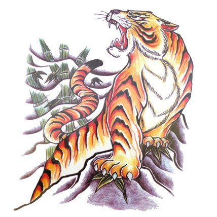Tiger Large Temporary Tattoo