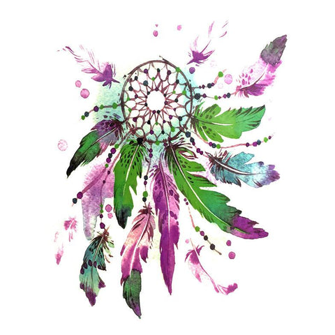 Dream Catcher Temporary Tattoo Themed Sheet - Design 4