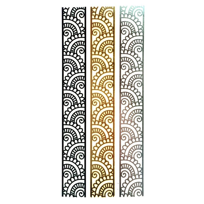 Temporary Tattoo - Silver And Gold Metallic Jewellery Tattoo - Design 86