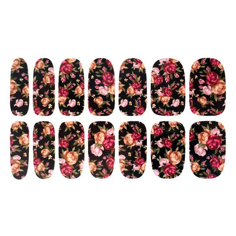 Floral Rose Design Nail Stickers