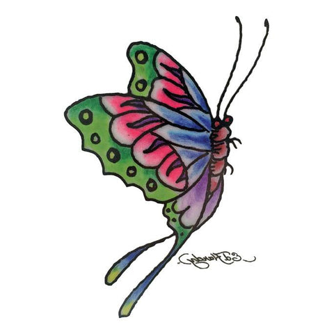 Butterfly Ed Hardy Temporary Tattoo
