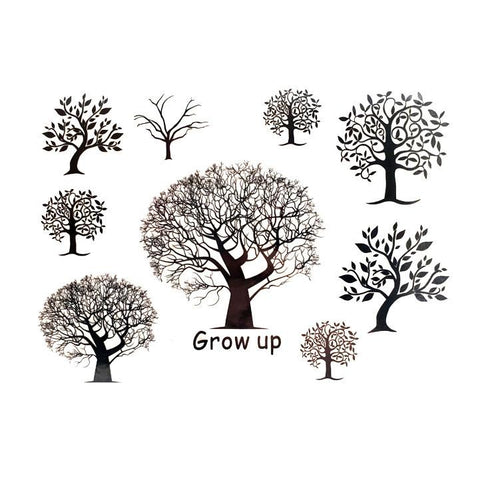 Trees Temporary Tattoo Themed Sheet