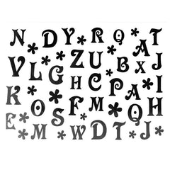 Temporary Tattoo - Alphabet Temporary Tattoo Themed Sheet