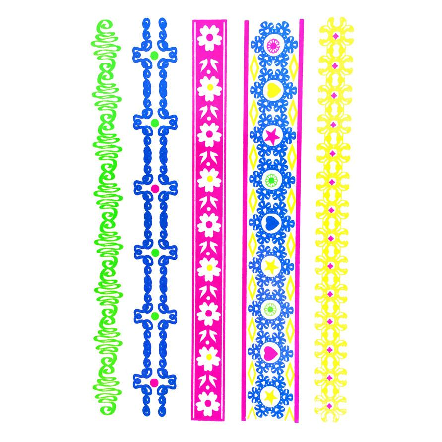 Temporary Tattoo - Day-Glo Temporary Tattoos - Design 103