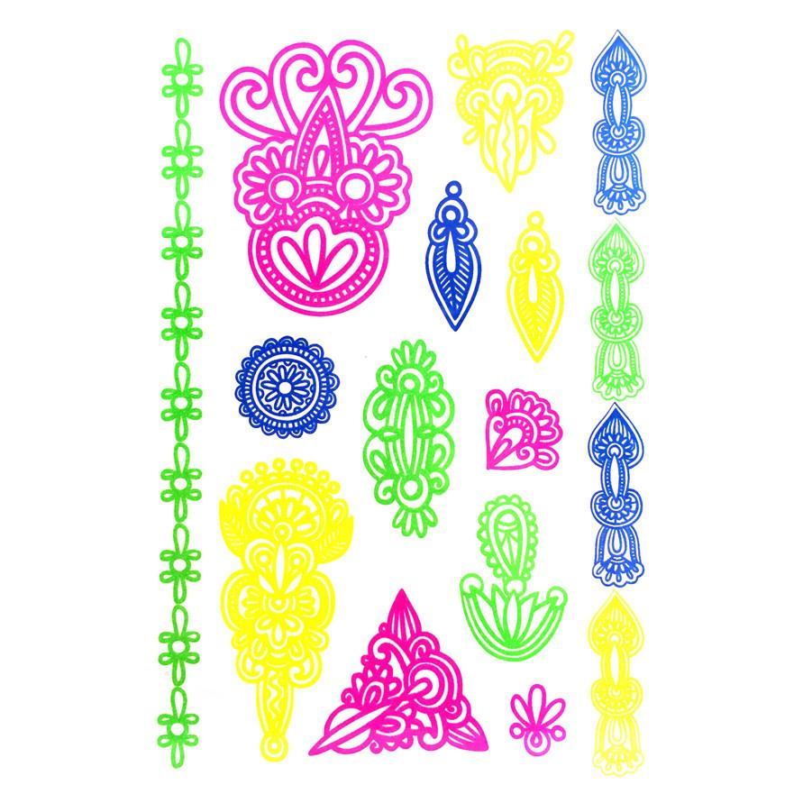 Temporary Tattoo - Day-Glo Temporary Tattoos - Design 105