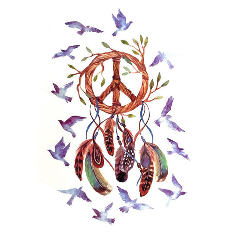 Dream Catcher Temporary Tattoo Themed Sheet - Design 1