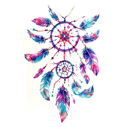 Dream Catcher Temporary Tattoo Themed Sheet - Design 2