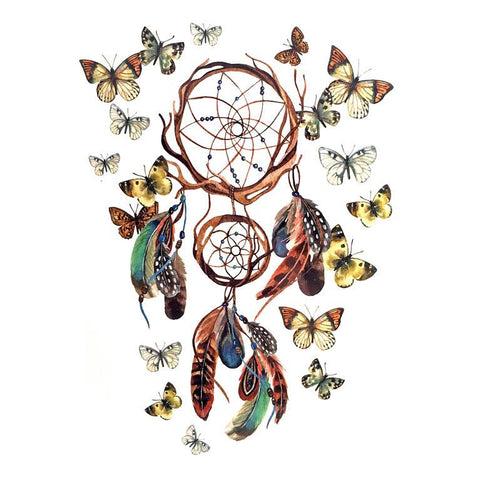 Dream Catcher Temporary Tattoo Themed Sheet - Design 3