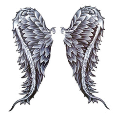 Temporary Tattoo - Angel Wings Large Temporary Tattoo