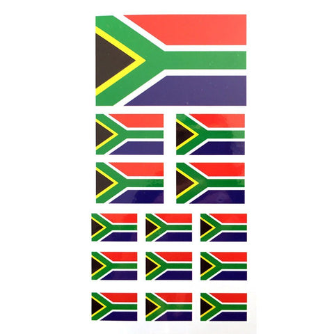 South African Flag Temporary Tattoo Sheet