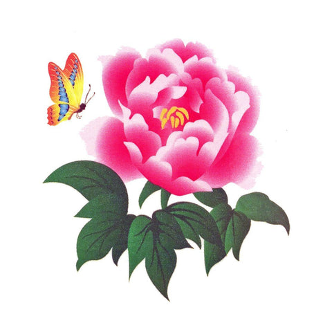 Rose and Butterfly Mini Temporary Tattoo