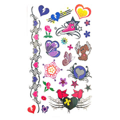 Temporary Tattoo - Childrens Funky Design 7 Tattoo Sheet