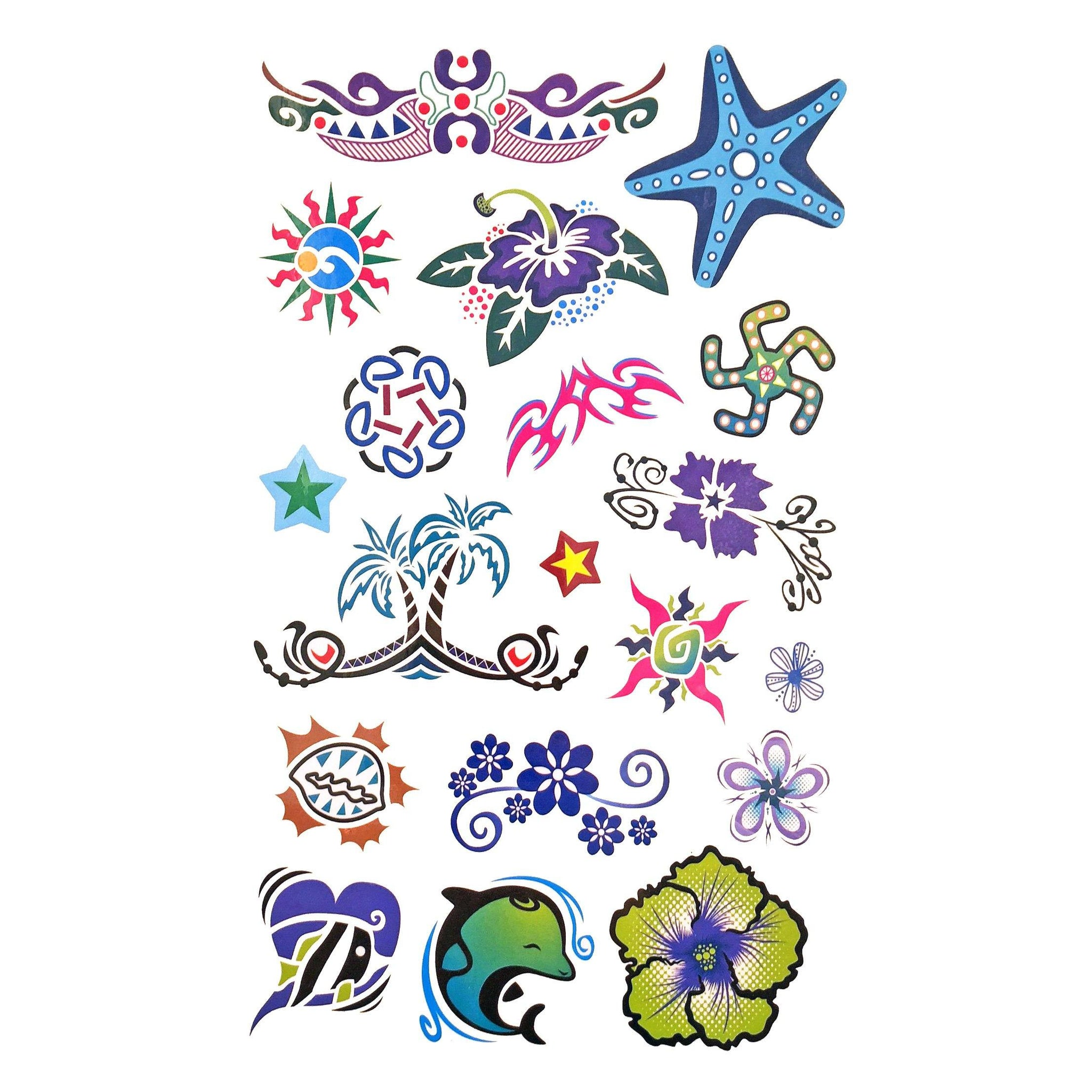 cdef132135eed Temporary Tattoo - Childrens Funky Design 5 Tattoo Sheet 5 In Stock