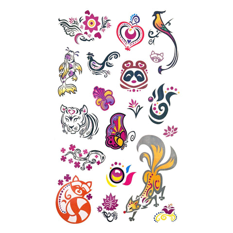 Childrens Funky Design 4 Tattoo Sheet