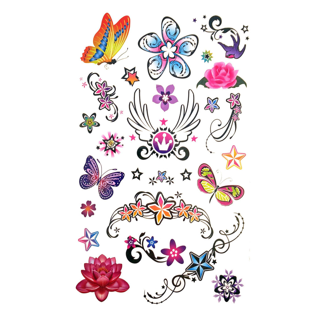 Temporary Tattoo - Childrens Funky Design 3 Tattoo Sheet