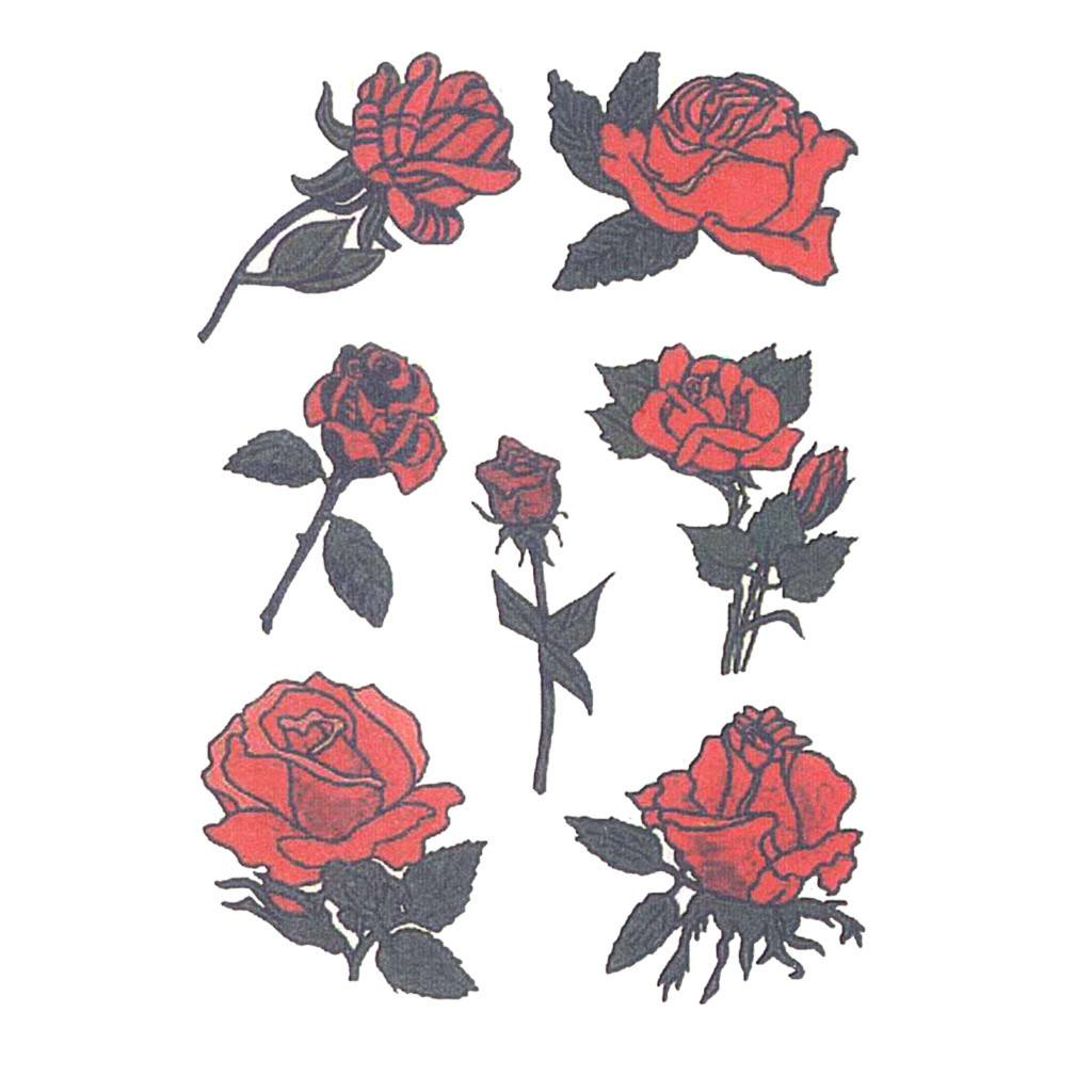 Barbed Wire Roses Temporary Tattoo | Temporary Tattoo Art