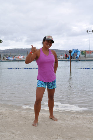 Gina is an outrigger canoe paddler