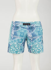 Pacific Island Boardshort   Blue/White Batik