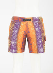 "Tahiti Boardshort   Orange/Rust/Purple  7"" Inseam"