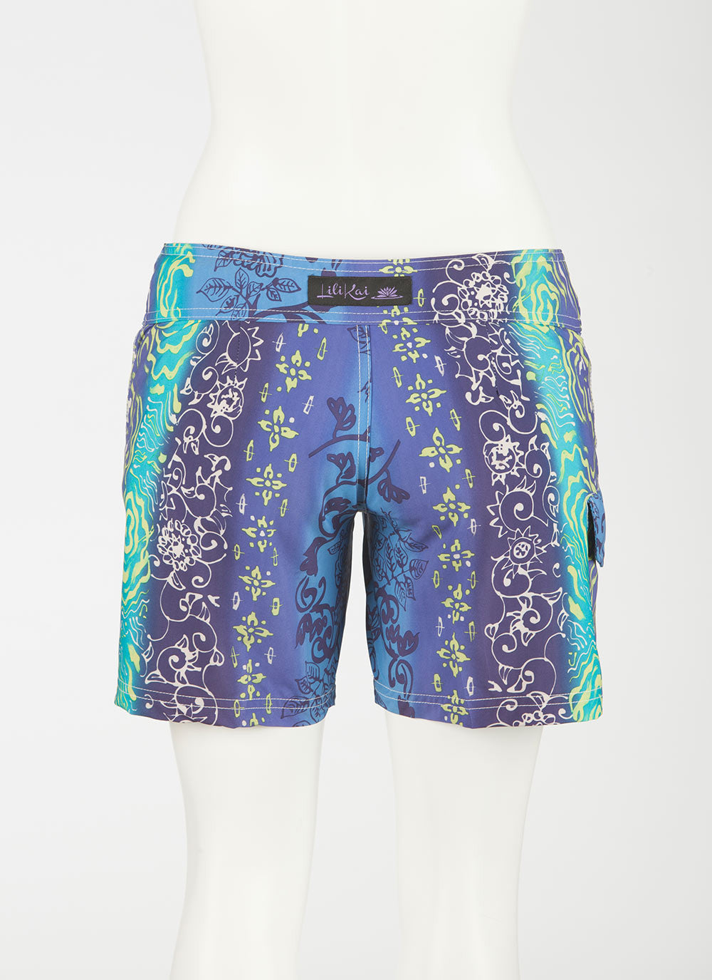 Tahiti Boardshort     Aqua/Purple/Lime