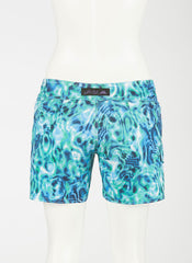 "Waterlites Boardshort  Aqua/Teal/Green 10"" Inseam"