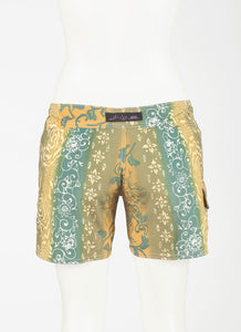 "Tahiti Boardshort   Teal/Olive/Gold 5"" Inseam"
