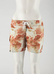 "Reef Boardshort   Cream/White 7"" Inseam"