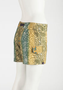 "Tahiti Boardshort   Teal/Olive/Gold 7"" Inseam"