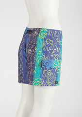 "Tahiti Boardshort     Aqua/Purple/Lime 7"" Inseam"
