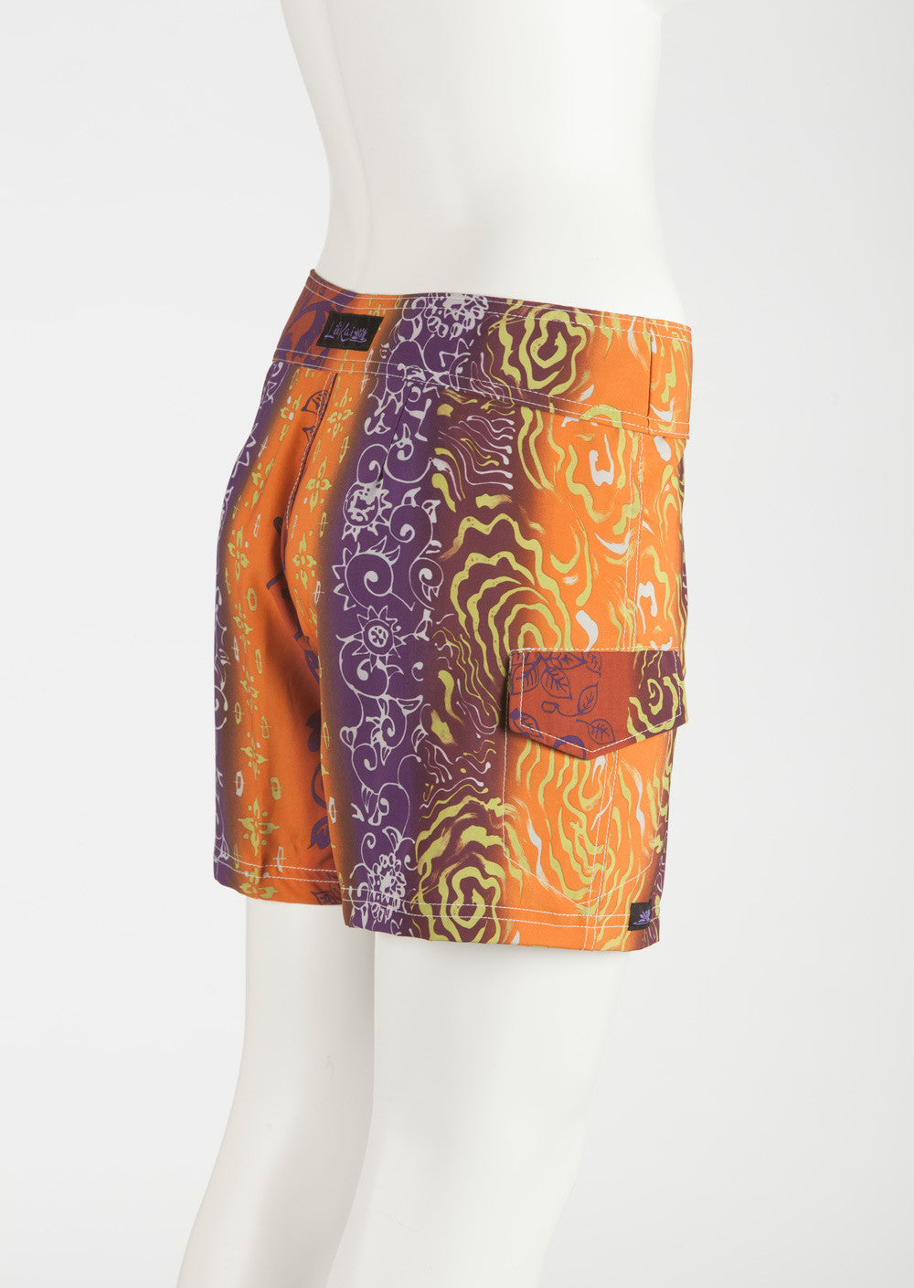 Tahiti Boardshort   Orange/Rust/Purple