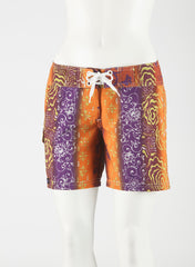 "Tahiti Boardshort   Orange/Rust/Purple  10"" Inseam"