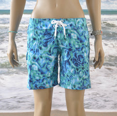 "Waterlites Boardshort  Aqua/blue 7"" Inseam"