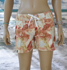 "Reef Boardshort   Coral/White/Brown 5"" Inseam"