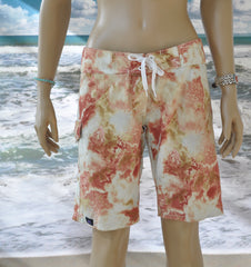 "Reef Boardshort   Cream/White 10"" Inseam"