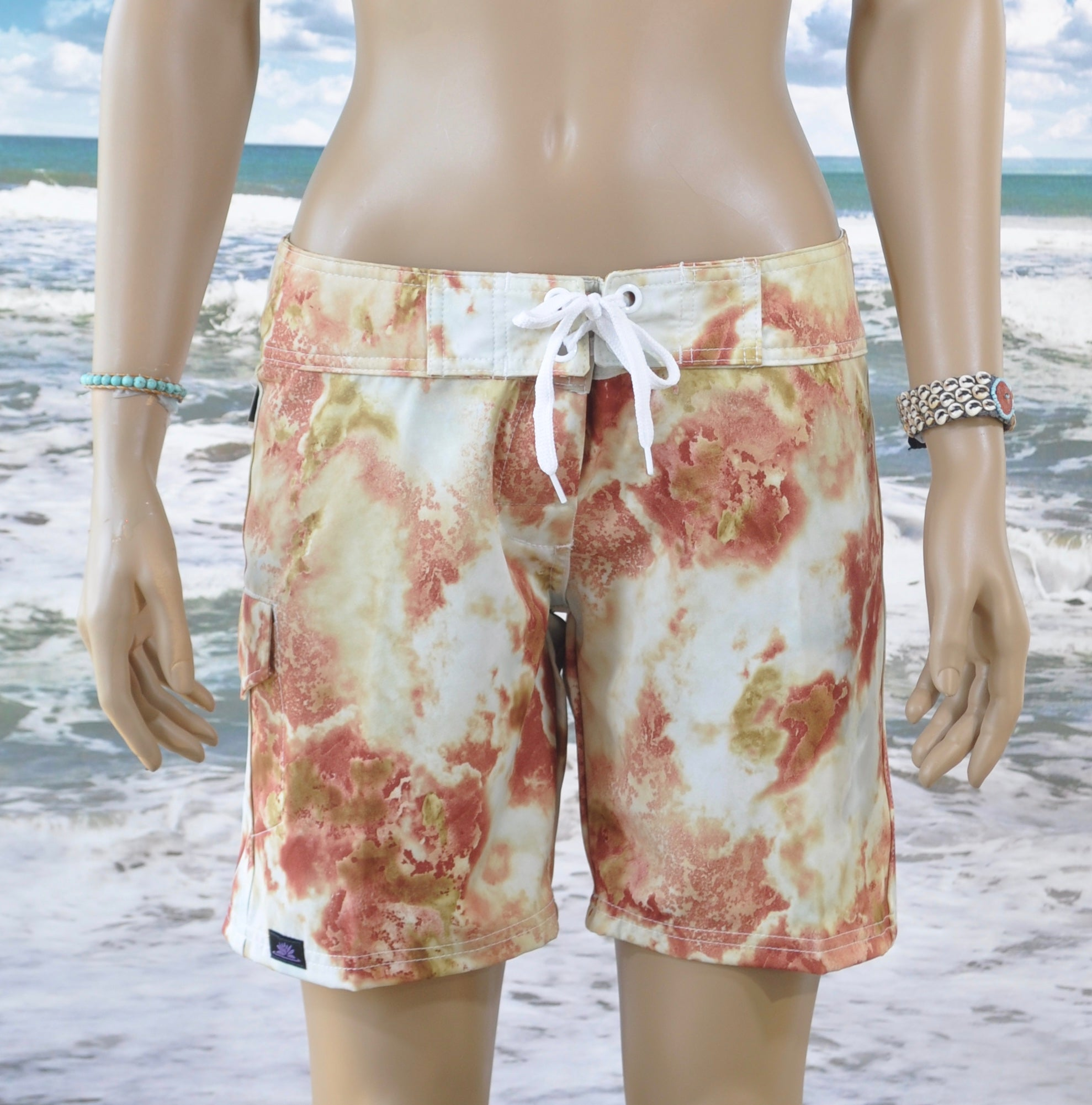 Reef Boardshort   Cream/White