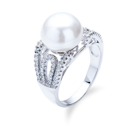 Cerise Pearl Ring