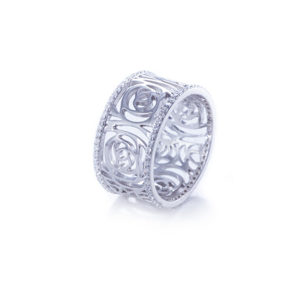Carola Filigree Rose Ring