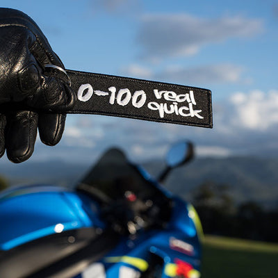 0-100 real quick - Motorcycle Keychain
