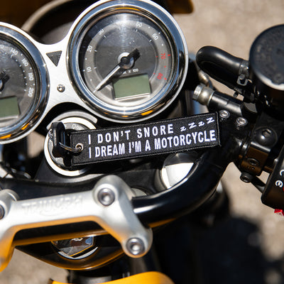 I Don't Snore - Motorcycle Keychain
