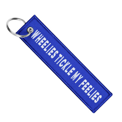 Wheelies Tickle My Feelies - Motorcycle Keychain