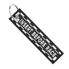 Insert Before Flight Checkered - Motorcycle Keychain