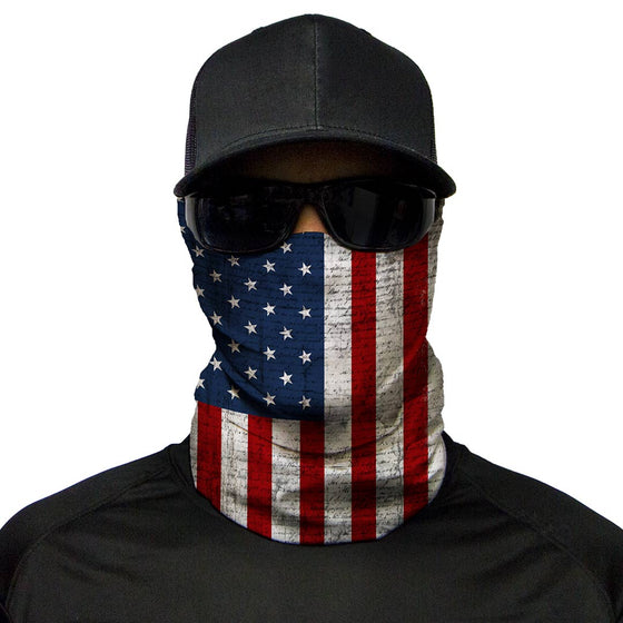 Motorcycle Face Mask - USA Flag