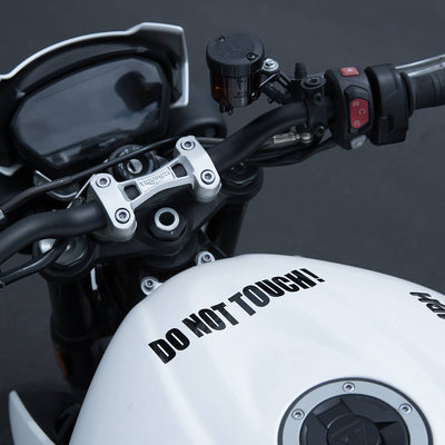 Motorcycle Decal - Do Not Touch! - Black