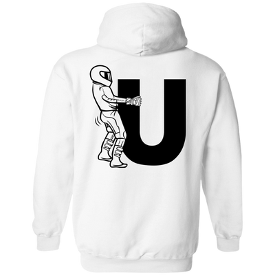 F-U Motorcyclist Hoodie White Small Medium Large X-Large XX-Large XXX-Large 4XL 5XL 6XL