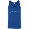 Motorcycle Heartbeat Tank Top Blue X-Small S M L XL 2XL