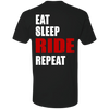 EAT SLEEP RIDE REPEAT T-SHIRT Black X-Small S M L XL 2XL 3XL 4XL